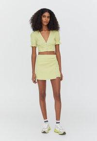 PULL&BEAR - A-line skirt - light green - 1
