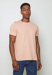 Topman - 7 PACK - Camiseta básica - mottled grey/khaki/blue - 3