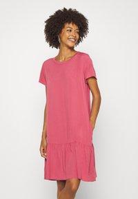 Marc O'Polo DENIM - DRESS FRILL SKIRT - Day dress - blackberry sorbet - 0