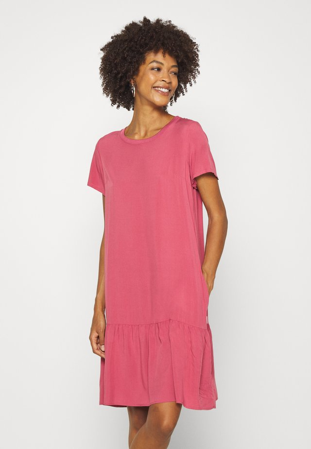 DRESS FRILL SKIRT - Denní šaty - blackberry sorbet