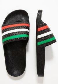 adidas Originals - ADILETTE SLIP-ON-DESIGN SHOES - Sandály do bazénu - core black/red/footwear white - 1