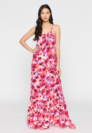 WITH SPAGHETTI STRAPS - Maxi dress - red
