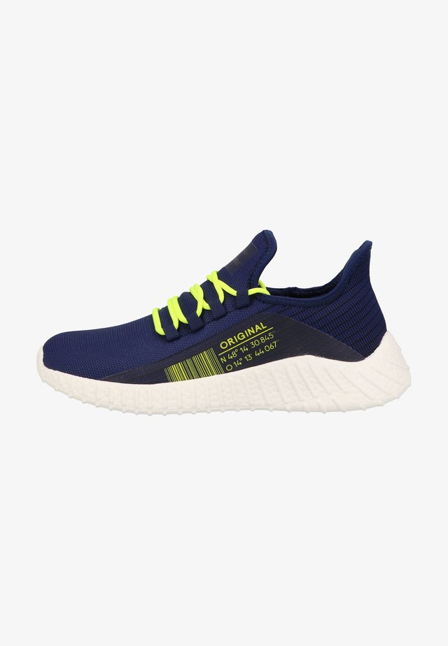 Sneakers laag - nautical akz neon yellow