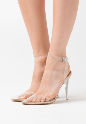 PERSPEX COURT SHOE - High heels - nude