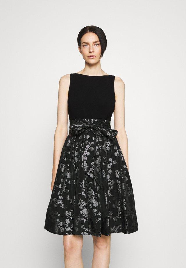 YUKO - Vestito elegante - black/silver