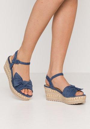 Sandali con plateau - jeans