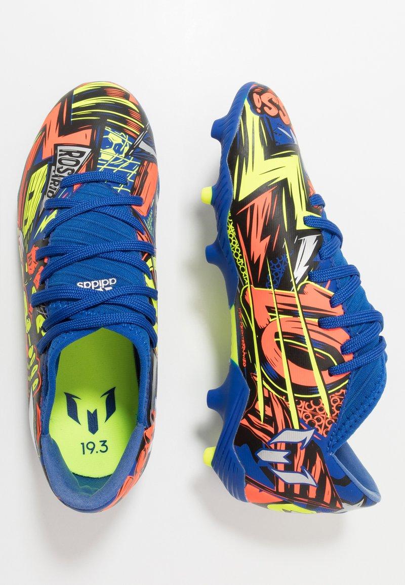 adidas Performance - NEMEZIZ MESSI 19.3 FG - Moulded stud football boots - royal blue/silver metallic/solar yellow