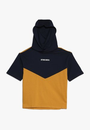 Print T-shirt - black iris/yellow