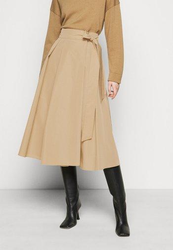 SACHA - Áčková sukně - kamel