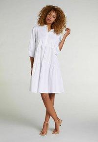 Oui - Shirt dress - optic white - 1