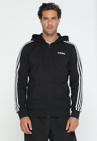 adidas Performance - Felpa aperta - black/white - 0