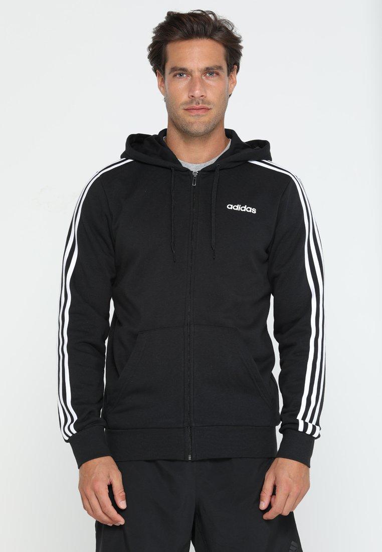 adidas Performance - Bluza rozpinana - black/white
