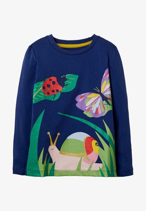 MIT SZENENMOTIV - Long sleeved top - segelblau, schnecke