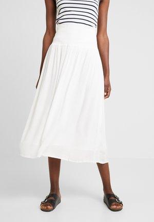 SMOCKED SKIRT - Maxi skirt - ivory