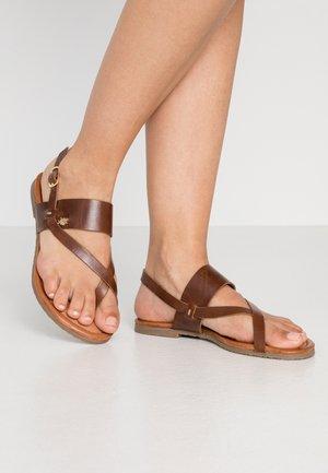 EVELINN - T-bar sandals - tan