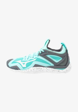 WAVE MIRAGE 3 - Handball shoes - aruba blue/white/steel gray