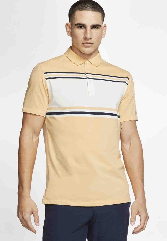 DRY PLAYER STRIPE - T-shirt de sport - celestial gold/sail/obsidian/flat silver