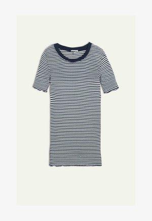 Print T-shirt -  powder white/blue stripe