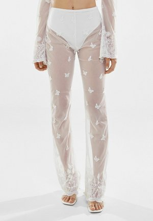 TULLE - Pantaloni - white