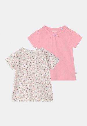 2 PACK  - T-shirt print - light pink/mottled beige