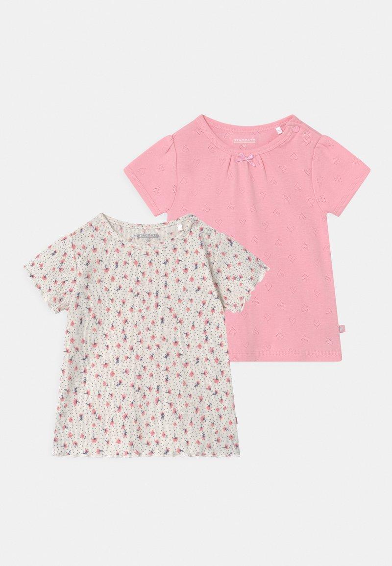 Staccato - 2 PACK  - T-shirt print - light pink/mottled beige