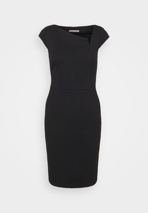 Casual Smart mini bodycon dress with cut out - Shift dress - black