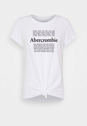 COOL GIRL LOGO TEE - Print T-shirt - white/black