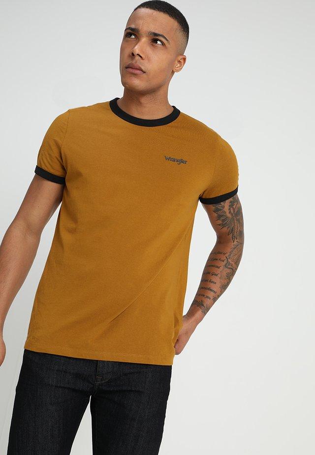 RINGER TEE - T-shirts - golden brown