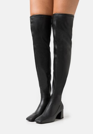 ARIANNE BOOT VEGAN - Over-the-knee boots - black