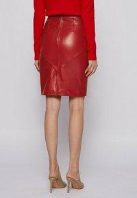 BOSS - Pencil skirt - dark red - 2