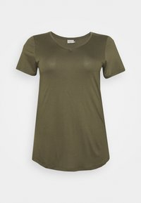 ANELI V NECK - Basic T-shirt - grape leaf