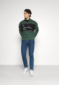 Karl Kani - SIGNATURE BLOCK TROYER - Sweatshirt - green - 1