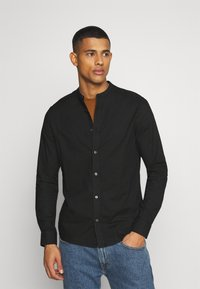 Burton Menswear London - LONG SLEEVE OXFORD GRANDAD 2 PACK - Shirt - black/karki - 4