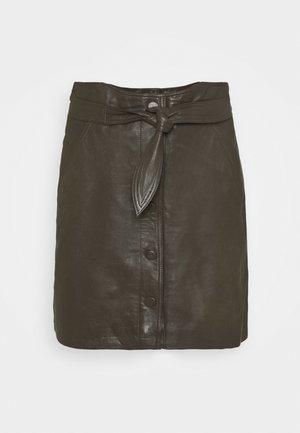 YASRURA SKIRT - Mini skirt - black olive