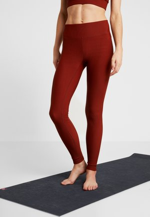 VISION SHINY HIGH WAIST - Legging - brave brown