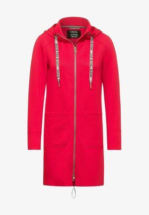 Zip-up hoodie - hibiscus red