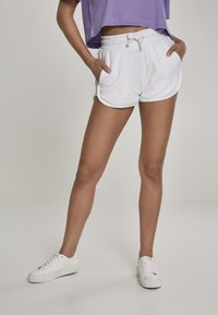Urban Classics - LADIES TOWEL HOT PANTS - Tracksuit bottoms - white - 0
