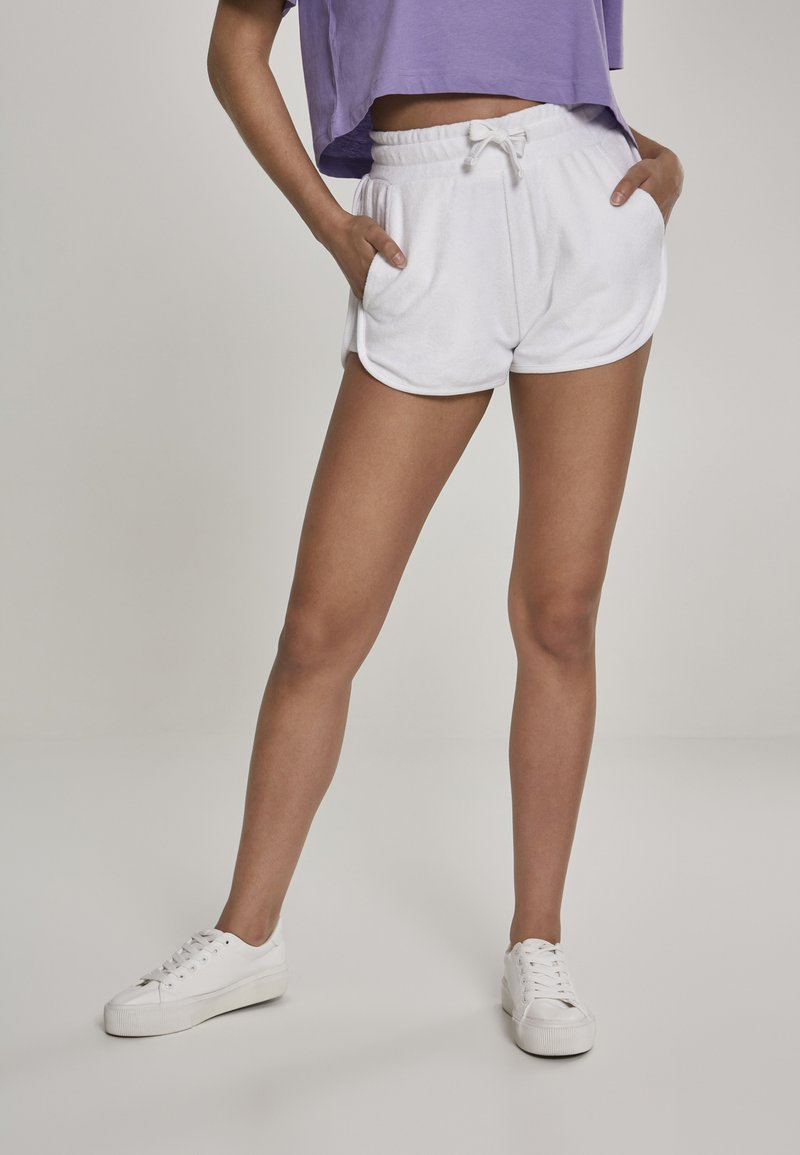 Urban Classics - LADIES TOWEL HOT PANTS - Tracksuit bottoms - white
