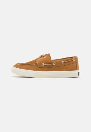 BAHAMA PLUSHWAVE - Boat shoes - tan