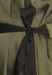 DKNY - CAP V NECK DRESS - Day dress - rosemary - 4