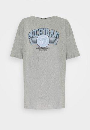 MICHIGAN DROP SHOULDER TSHIRT - Print T-shirt - grey marl