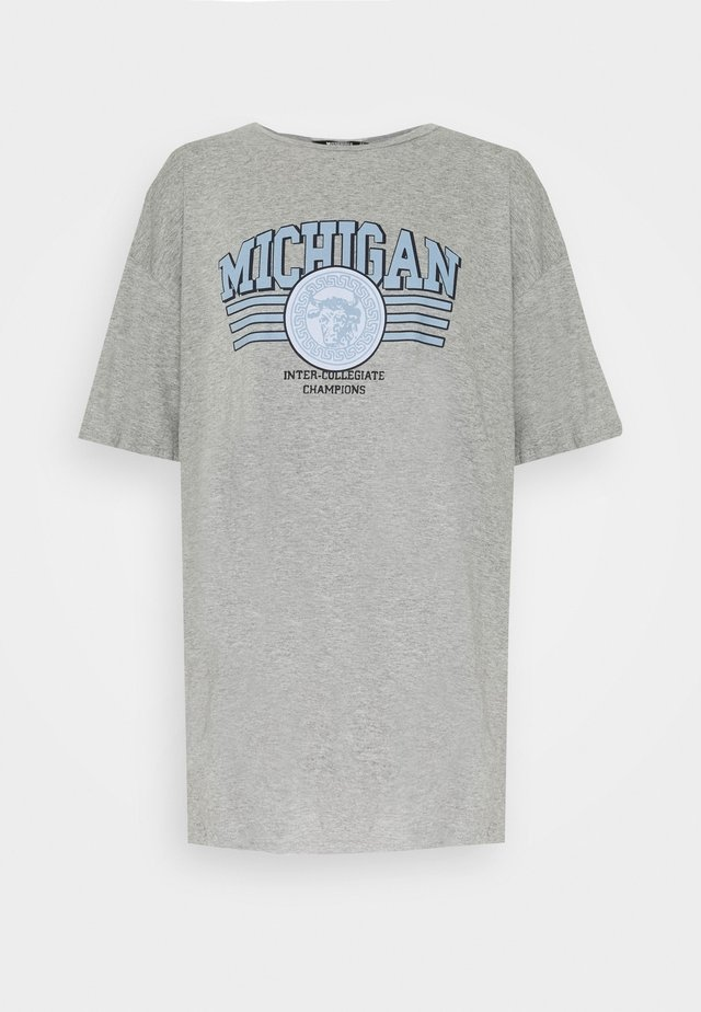 MICHIGAN DROP SHOULDER TSHIRT - T-shirts print - grey marl