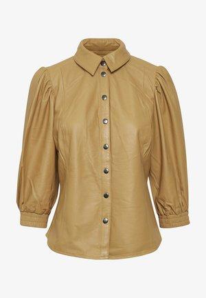Button-down blouse - apple cinnamon
