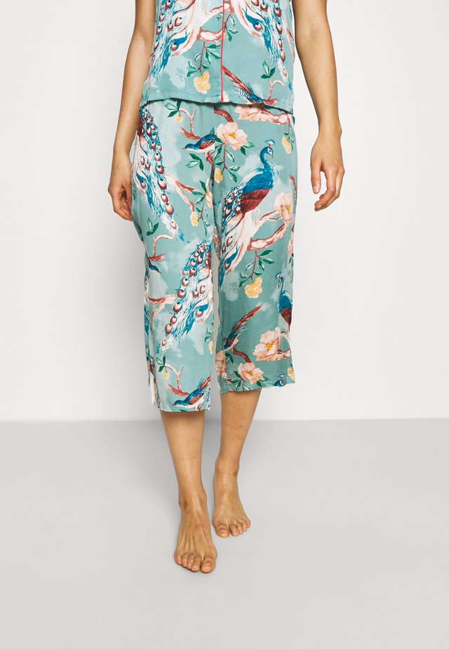 CAPRI PAINTED PEACOCK - Pyjamahousut/-shortsit - mineral blue