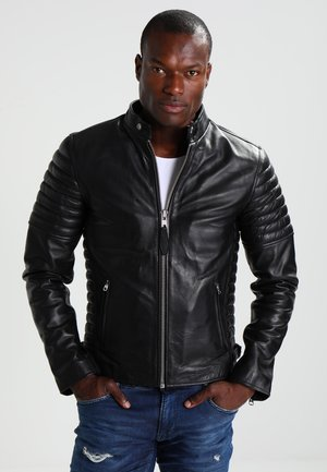 JOE - Veste en cuir - black
