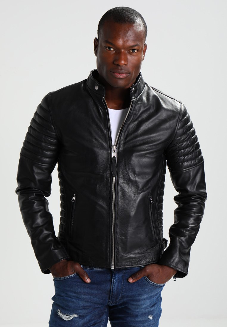 Schott - JOE - Leather jacket - black