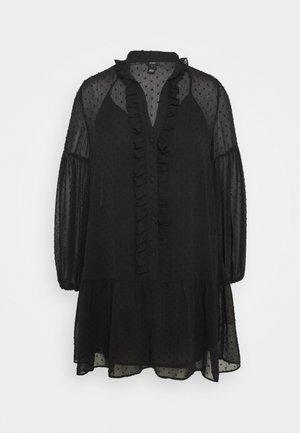UMA DOBBY SMOCK DRESS - Day dress - black