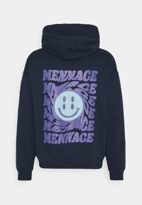 Mennace - UNISEX TWISTED HOODIE - Hoodie - blue - 1