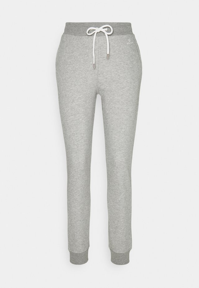 LOCK UP PANTS - Pantalones deportivos - grey melange
