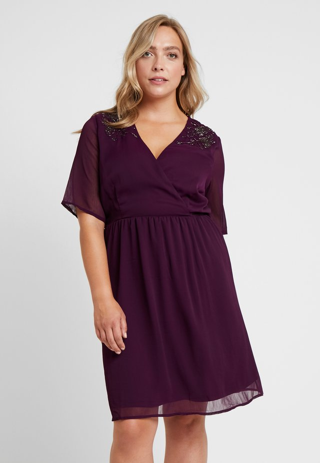 JRSANNE SLEEVE DRESS - Hverdagskjoler - potent purple